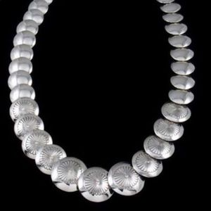 Sterling Silver Concho Necklace
